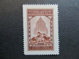 A4P2F31 Germany Poster Stamp 1933 International Philatelic Exhibition MNG