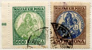 (I.B) Hungary Postal : Definitives 50k + 5000k
