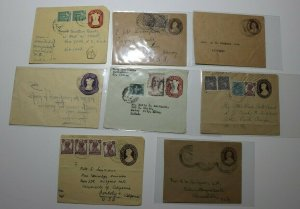 India Postal Stationary envelope Airmail Lot 8 New Delhi Postage Due USA