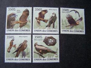 Comores Comoro 2009 MNH Birds Falcon
