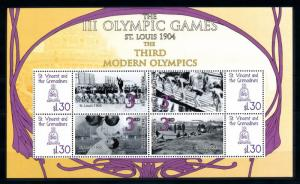 [93037] St. Vincent & Gren. 2009 Olympic Games St. Louis Swimming Sheet MNH