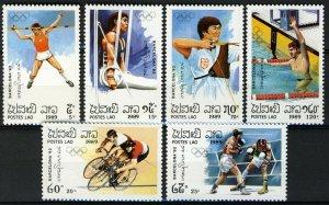 Laos 1989, Olympics Barcelona 92, set MNH