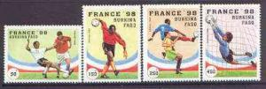 Burkina Faso 1996 Football World Cup perf set of 4 unmoun...