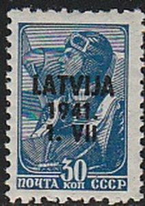 Stamp Germany Lettland Mi 05 1941 WWII Latvia War Occupation Russia Latvija MH