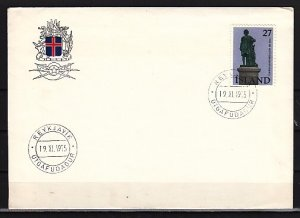 Iceland, Scott cat. 487. Scuptor issue. First day cover. ^