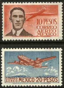 MEXICO C178-C179 Pilot and Douglas DC-4 SET OF TWO. MINT, NH. F-VF.