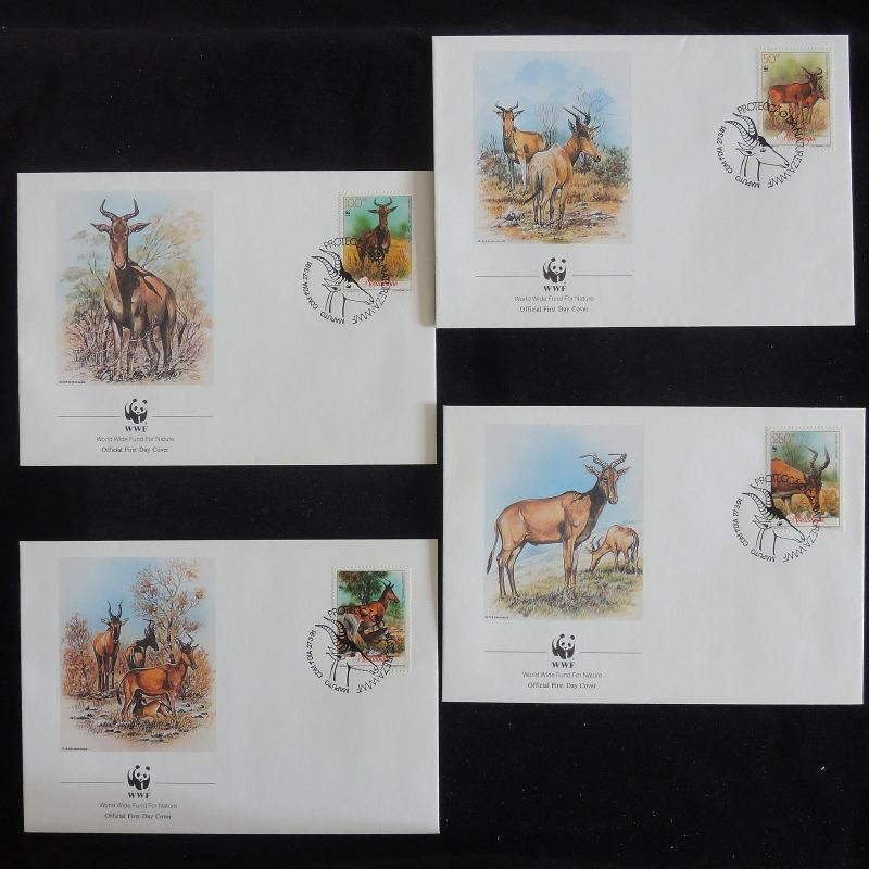 ZS-Z832 WWF - Mozambique Ind, 1991 Fdc, Ibex, Lot Of 4 Covers