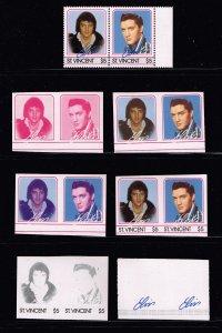 UK S.T. VINCENT STAMP Elvis Presley Imperf Proof MNH STAMP COLLECTION LOT