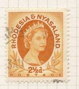 Rhodesia & Nyasaland 1954 QEII Early Issue Fine Used 2.5d. 075714