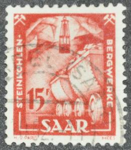 DYNAMITE Stamps: Saar Scott #213 - USED