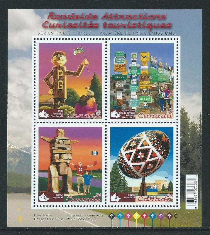 Canada 2335 2009 Roadside Attractions s.s. MNH