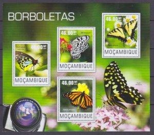 2014 Mozambique 7565-7568KL Butterflies 10,00 €