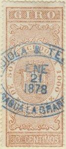 DEPENDENCIAS ESPAÑOLAS - 1868 Sello Fiscal (GIRO) 50 centimos - usado