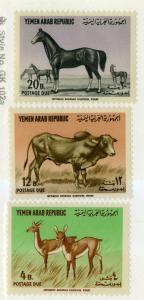 YEMEN J9-J11 MNH SCV $11.75 BIN $6.00 ANIMALS