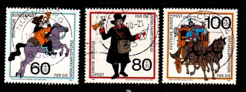 Germany Sc B682-4 1989 Mail Carriers stamp set used