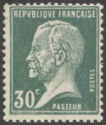 FRANCE 1926 Sc 189 MNH  VF 30c green Pasteur