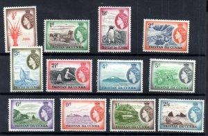 Tristan Da Cunha 1954 short LHM set to 2s 6d SG14-25 WS18499