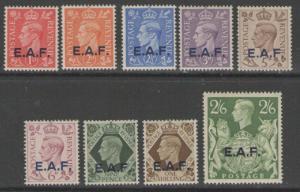 B.O.I.C.-SOMALIA SGS1/9 1943-6 OVERPRINTED E.A.F. MTD MINT