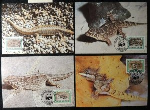 cape verde 1986 WWF reptiles lizards geckos and skinks maxicard