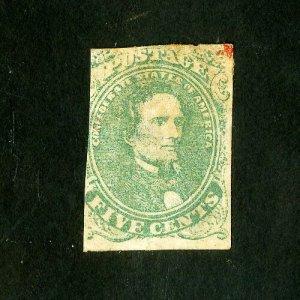 US Stamps # 1 F Light cancel used Scott Value $175.00