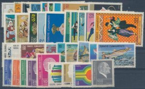 TURKEY -  1975 COMPLETE YEAR SET (INCL. OFFICIAL & DEFINITIVE STAMPS)