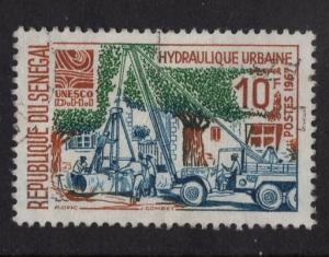 Senegal   #283  used  1967 laying water pipes  10fr