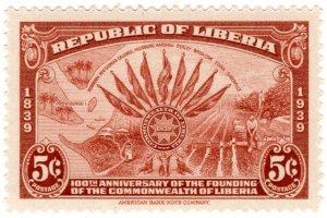 Liberia Scott 277-279 (1940: Liberian Commonwealth 100th Anniversary)