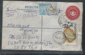 LESOTHO  (PP0609B)  1977  10C   RLE+4C_5C BUTHABUTHA TO MORIJA VIA TSIIVIE