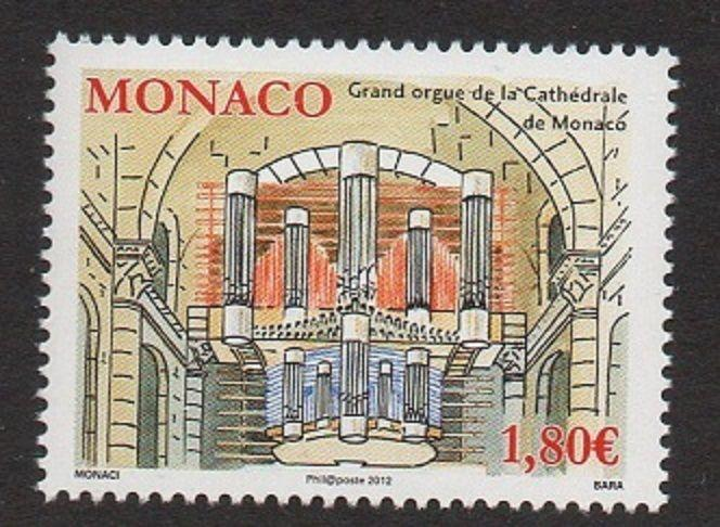 Monaco 2012 Music Organ Cathedral VF MNH (2690)