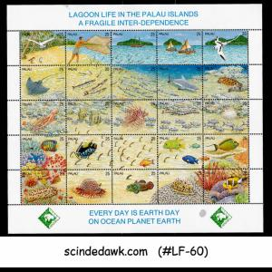 PALAU - 1990 LAGGON LIFE IN PALAU / EARTH DAY / MARINE LIFE FISH MIN/SHTMNH