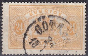 Sweden  #O21  F-VF Used CV $25.00  (Z6250)