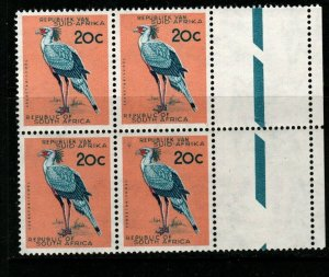 SOUTH AFRICA SG208 1961 20c DEFINITIVE MNH BLOCK OF 4