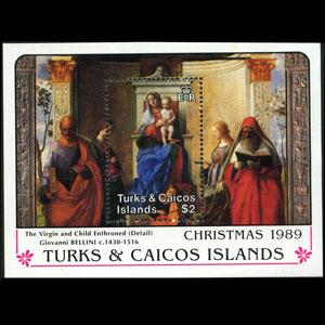 TURKS & CAICOS 1989 - Scott# 788 S/S Christmas NH