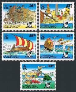Guernsey 498-502,MNH.Michel 568-572. Operation Asterix,1992.Ship contraction,