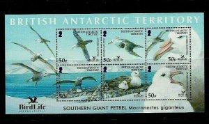 British Antarctic Territory: 2005, Birdlife International, Giant Petrel MNH M/S
