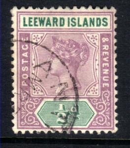Leeward Islands 1890 QV 1/2d Dull Mauve & Green SG 1 ( M161 )