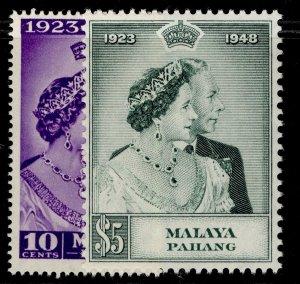 MALAYSIA - Pahang GVI SG47-48, ROYAL SILVER WEDDING set, NH MINT. Cat £25.