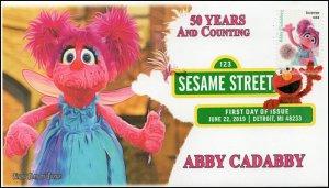 19-152, 2019, Sesame Street, Digital Color Postmark, FDC, Abby Caddaby, 50 Years