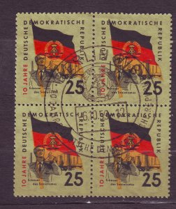 J23289 JLstamps 1959 germany DDR used blk/4 fdc #460 flag