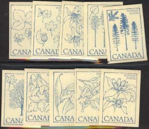 Canada - 1979 Booklets Set of 10 w CAMEO DOUBLED #BK80c
