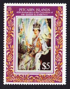 Pitcairn 40th Anniversary of Coronation 1v SG#430 MI#412 SC#383