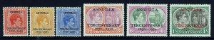 ST.KITTS-NEVIS KG VI 1950 Anguilla Tercentenary Overprint Set SG 86 - SG 91 MINT