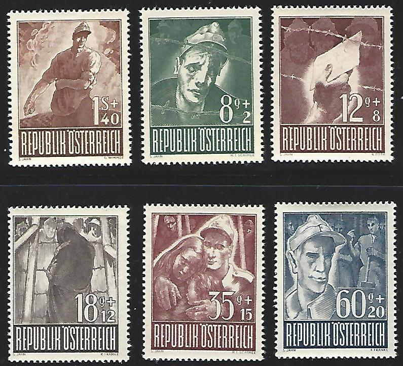 Austria #B218-B223 MNH Full Set of 6