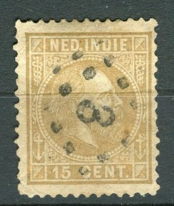 NETHERLAND INDIES; 1870 early classic William issue fine used 15c. value