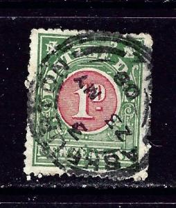 New Zealand J17 Used 1904 issue few nibbed perfs