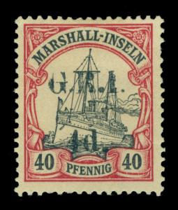 German Colonies - NEW BRITAIN G.R.I. Marshall Is 4d/40pf lake Sc# 36 mint MH FVF