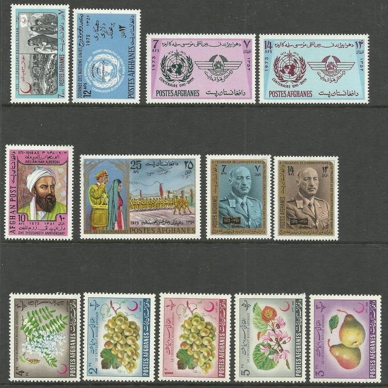 Afganistan   =  MNH topicals sets / short Animales   sets , see all the 2 scans