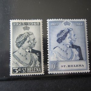 St Helena 1948 Silver Wedding Sc 130-131 set of 2 MH