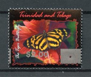 Trinidad & Tobago 2017 MNH Tiger Butterfly OVPT 1v Set Butterflies Stamps