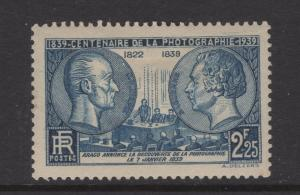 France 1939 Stamps Centenary of Photography Scott 374 MH